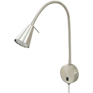 LED-Bettleuchte, Nickel-matt ¦ silber