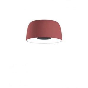LED Decken- oder Wandleuchte, 21,7 W, 700 mA, 2700 K, dimmbar, PE-Schirm und Aluminiumdiffusor, Modell Djembe C 42,21, Rot, 41,6 x 41,6 x 21 cm (A681-106)