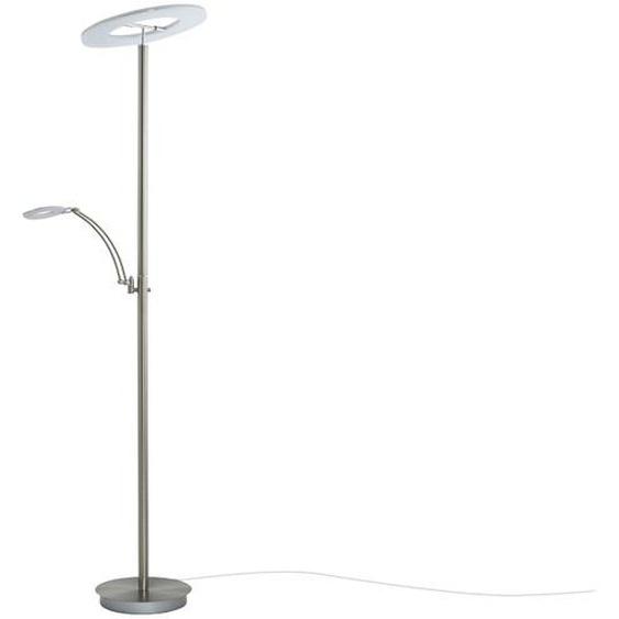 LED-Deckenfluter, 2-flammig, Nickel matt ¦ silberØ: 42
