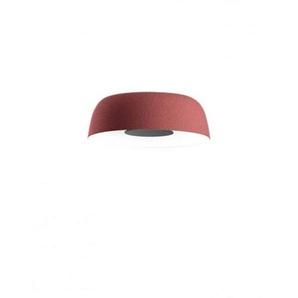 LED-Deckenleuchte, 21,7 W, 700 mA, 2700 K, dimmbar, Schirm aus Polyethylen und Diffusor aus Aluminium, Modell Djembe C 42,13, Rot, 40,3 x 40,3 x 13,5 cm (A681-102)