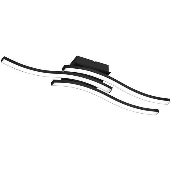 LED Deckenleuchte 3-flammig   schwarz   Kunststoff, Metall  
