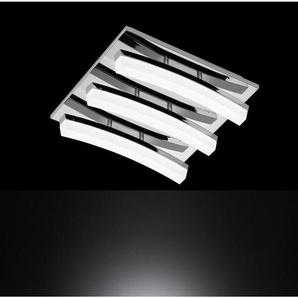 : LED-Deckenleuchte, Chrom, B/H/T 32 9 32