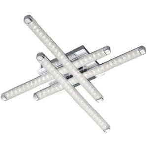 : LED-Deckenleuchte, Chrom, B/H/T 50,0 7,0 50,0