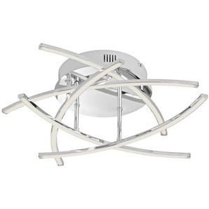 : LED-Deckenleuchte, Silber, H 16