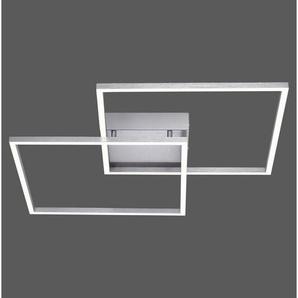 : LED-Deckenleuchte, Nickel, B/H/T 53 6,5 53