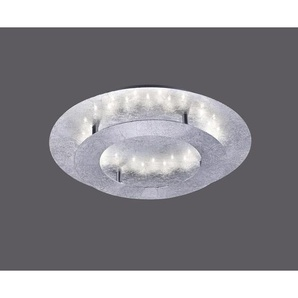 : LED-Deckenleuchte, Silber, B/H/T 40 8 40