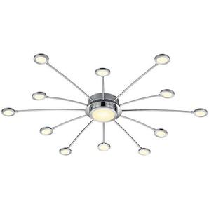 : LED-Deckenleuchte, Chrom, Weiß, H 20