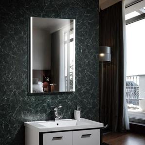 LED Deko Spiegel Panama mit intergrierter Digitaluhr 100W Kaltes Weiß 6000K - 6500K - LEDKIA