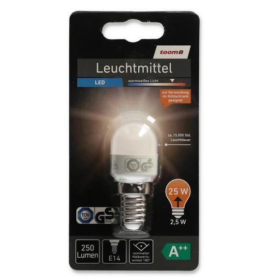 LED-Kühlschranklampe 250 lm 2,5 W E14