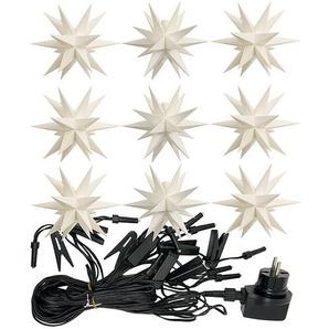 LED-Lichterkette Adventssterne weiß