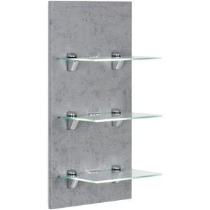 LED-Panel VIVA beton mit 3 Glasablagen