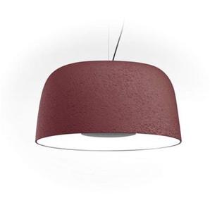 LED-Pendelleuchte, 21,7 W, 700 mA, 2700 K, dimmbar, mit Schirm aus Polyethylen und Aluminium, Djembe 42,21, Rot, 41,6 x 41,6 x 21 cm (A681-246)