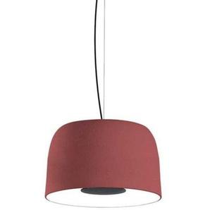 LED-Pendelleuchte, 21,7 W, 700 mA, 2700 K, dimmbar, mit Schirm aus Polyethylen und Aluminium, Djembe 42,28, Rot, 42 x 42 x 28 cm (Artikelnummer: A681-254)