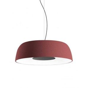 LED-Pendelleuchte, 28,5 W, 700 mA, 2700 K, dimmbar, mit Schirm aus Polyethylen und Diffusor aus Aluminium, Modell Djembe 65,23, Rot, 63 x 63 x 23 cm (A681-262)