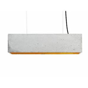 Pendelleuchte B4 GANTlights grau, Designer Stefan Gant, 14x56x14 cm