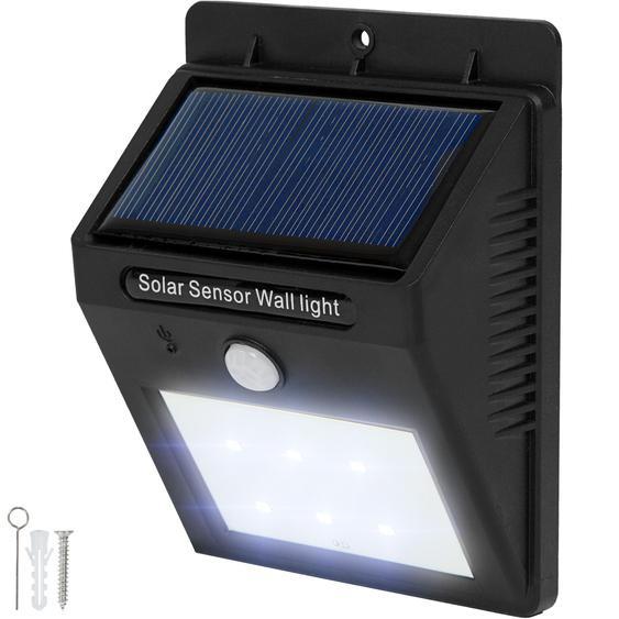 LED Solar Leuchte mit Bewegungsmelder - schwarz