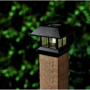 LED-Solar-Zaunleuchte 9,1 x 9,1 cm, schwarz