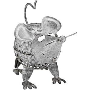 Solartier Maus silbern