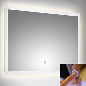 LED Spiegel mit Touch Bedienung B x H x T ca. : 100 x 60 x 3,2 cm