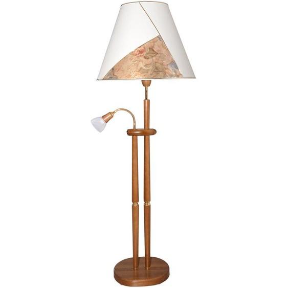 LED Stehlampe 2 -flg. / Ø55 cm, H:155 cm beige Leselampen Lampen Leuchten