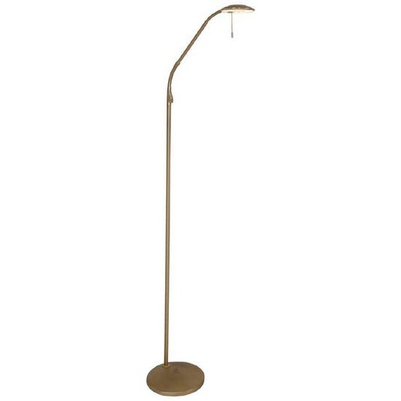 LED-Stehlampe, Messing, Alu, Eisen, Stahl & Metall