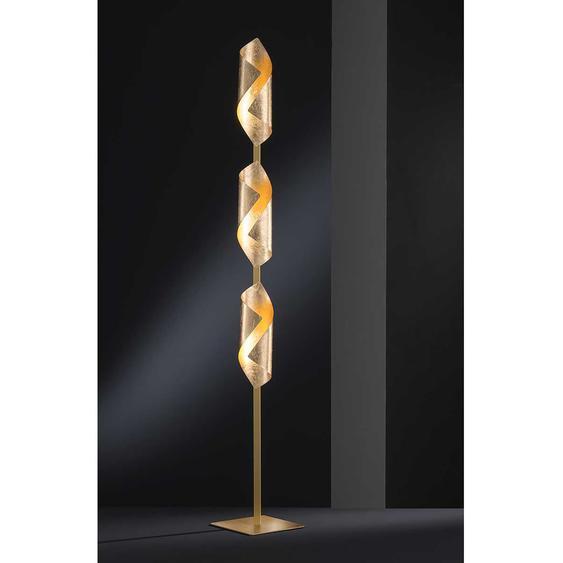Wofi LED-Stehleuchte Safira 3-flammig Eisen Gold 20x142x20 cm (BxHxT) 3W Leuchtmittel inklusive