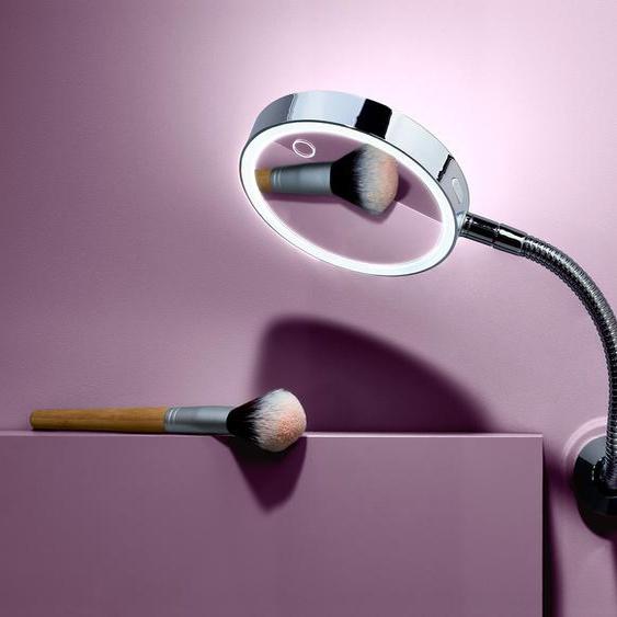 LED-Wandkosmetikspiegel - Silberfarben -