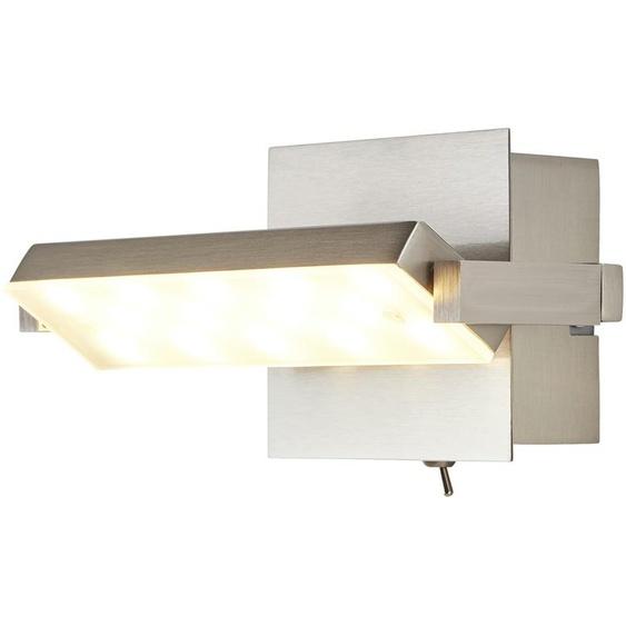LED-Wandleuchte, 1-flammig, Nickel matt   silber  
