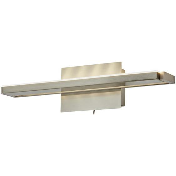 LED- Wandleuchte, 1-flammig, nickel matt, verstellbar   silber  