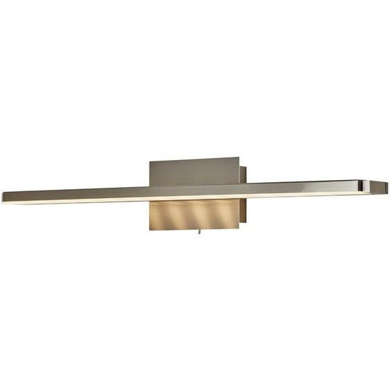 LED- Wandleuchte, 1-flammig, nickel matt, verstellbar ¦ silber