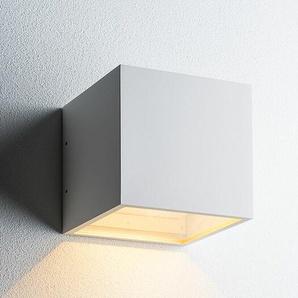 LED-Wandleuchte Cube XL Down Light Point weiß, Designer Ronni Gol, 15x15x15 cm