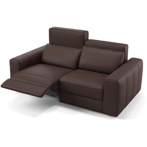 Leder 2 Sitzer Couch Capri mit Relax-Funktion