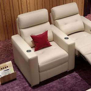 Leder 2 Sitzer Sofa MATERA mit Sitztiefenverstellung