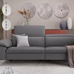 Leder 3-Sitzer Sofa mit Funktion STELLA