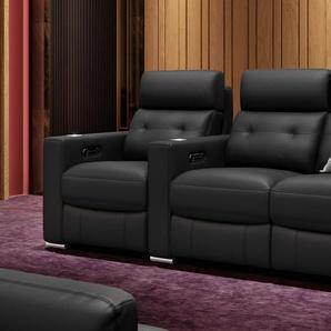 Leder Kino 3 Sitzer Couch MATERA Relaxsofa in Rindsleder