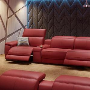 Leder Kinosofa Partnersitz SORA Relaxfunktion Sofa