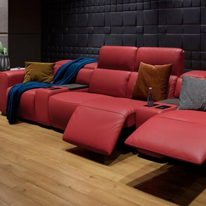 Leder Sofa mit Motor BINETTO 4-Sitzer Relaxfunktion