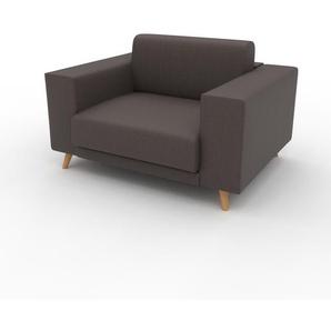 Ledersofa Graubraun Veganes Leder - Elegantes, gemütliches Ledersofa: Hochwertige Qualität, einzigartiges Design - 128 x 75 x 98 cm, konfigurierbar