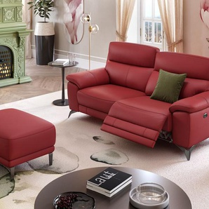 Ledersofa LANTELLA Couch mit Relaxfunktion