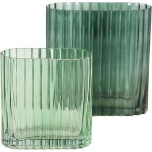 LeGer Home by Lena Gercke Dekovase »Lesslie« (Set, 2 Stück), Vase/Windlicht aus Glas