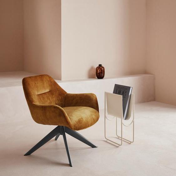 LeGer Home by Lena Gercke Loungesessel Noemi Luxus-Microfaser orange Drehsessel Sessel