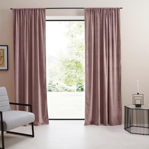 LeGer Home by Lena Gercke Vorhang Samt Ladina 175 cm, Stangendurchzug, 140 cm rosa Gardinen Vorhänge