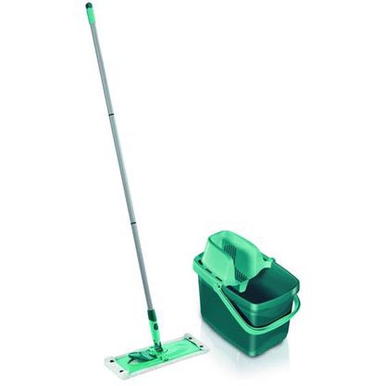Leifheit Set Combi Clean Bodenwischer und Eimer mit Pressaufsatz türkis