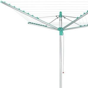 Leifheit Wäschespinne Linomatic 400 Easy, 40 Meter Leinenlänge Einheitsgröße blau Wäscheständer und Wäschespinnen Wäschepflege Haushaltswaren