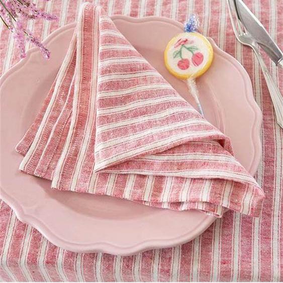 Leinenserviette Scilla - bunt - 100 % Leinen - Tischwäsche