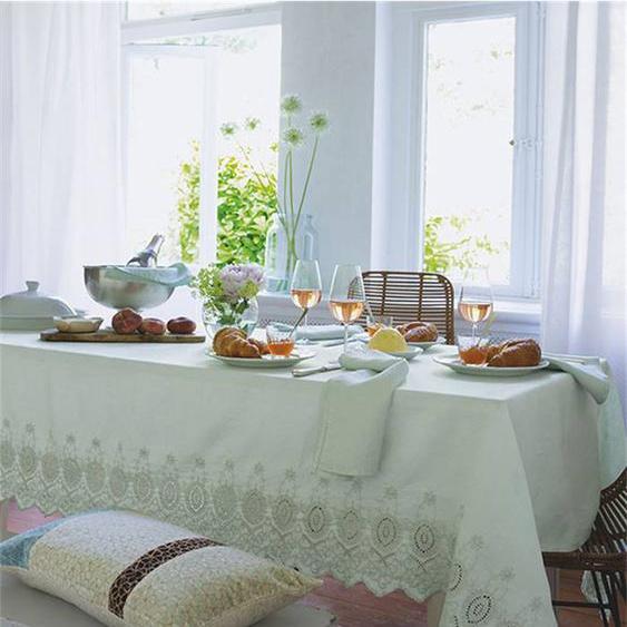 Leinentischdecke Annelie - bunt - 100 % Leinen - Tischwäsche