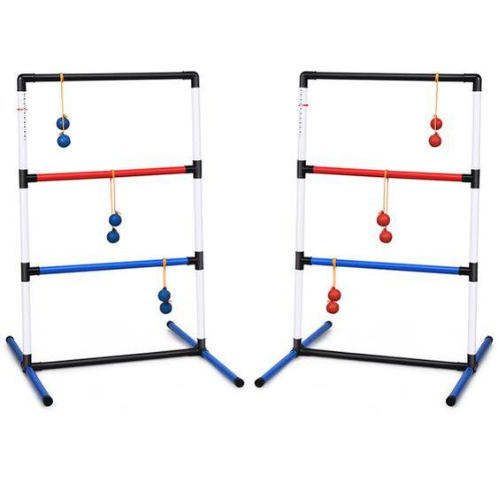 Leitergolf-Set Indoor-Outdoor Wurfspiel mit 6 Bolas-Wurfkugeln und Tragetasche