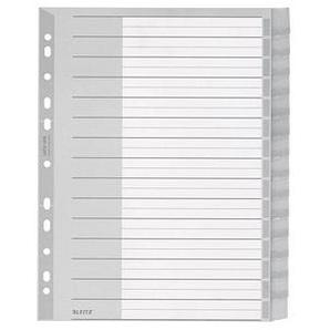 LEITZ Register 1276  A4 Überbreite blanko grau 15-teilig