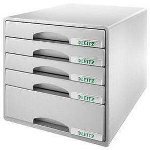 LEITZ Schubladenbox Plus grau DIN A4 mit 5 Schubladen