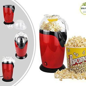 Leogreen - Elektrischer Popcorn-Maker, Heißluft Popcorn Popper, Rot, Größe: 30,5 x 17 x 16,3 cm, Tassenvolumen: 60 g